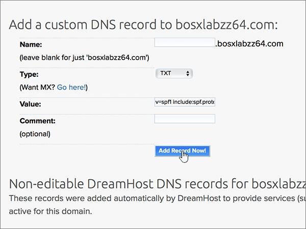 Dreamhost – doporučených postupů – konfigurace 4-2