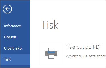 Příkaz Tisk ve Word Web Appu