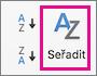 Na kartě Data Excelu, vyberte Seřadit