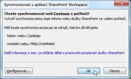 Dialogové okno Synchronizace s počítačem
