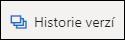 Tlačítko Historie verzí na pásu karet na OneDrivu