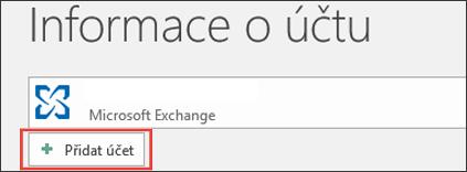 Outlook 2016 – Přidat účet