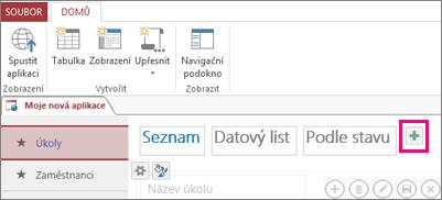 Přidání zobrazení seznamu z klienta Accessu
