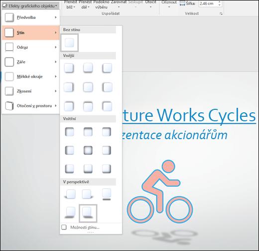 Přidání efektů, jako jsou stíny, k obrázku SVG pomocí nástroje Grafické efekty