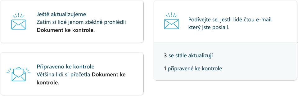 Snímek obrazovky s stat MyAnalytics e-mailu