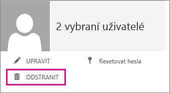 Odstraňte uživatelský účet pomocí kliknutí na Odstranit