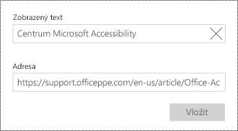 Přidejte text hypertextového odkazu.