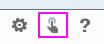 Snímek obrazovky s tlačítkem možností, dotykového režimu (zvýrazněným) a nápovědy