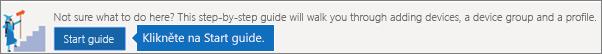Podrobné pokyny k Autopilotu získáte, když kliknete na úvodní příručku.