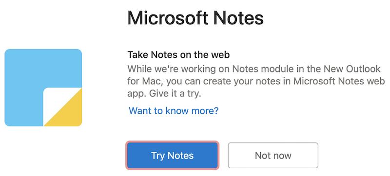 Vyzkoušejte si Microsoft Notes na webu