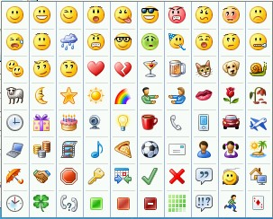 Asnapshot for emoticons that are sent from Lync 2010