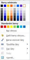 Možnosti formátování obrysu obrazce WordArt v Publisheru 2010