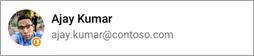 Snímek obrazovky s ikonou Office na avataru