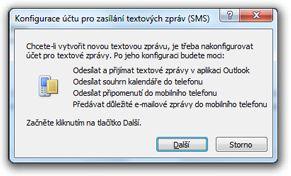 Konfigurace účtu pro textové zprávy (SMS)