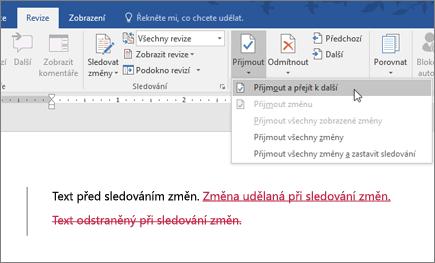 Office 365 Word – sledování změn