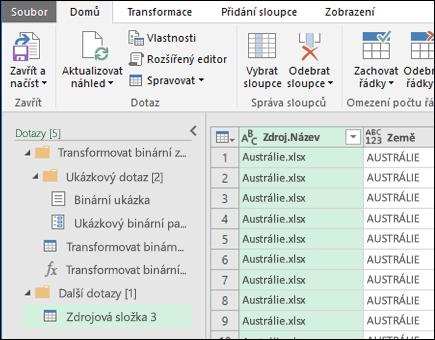 Kombinování dialogového okna Náhled binární soubory. Stiskněte zavřít a načíst přijmout výsledky a importovat do Excelu.