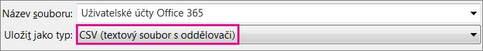 Obrázek s ukázkou postupu uložení souboru v Excelu ve formátu CSV