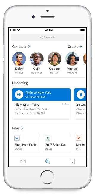 Hledání v Outlooku Mobile