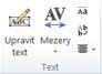Skupina úprav textu objektu WordArt v Publisheru 2010