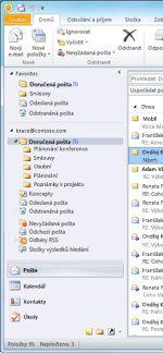 Outlook 2010 navigačního podokna