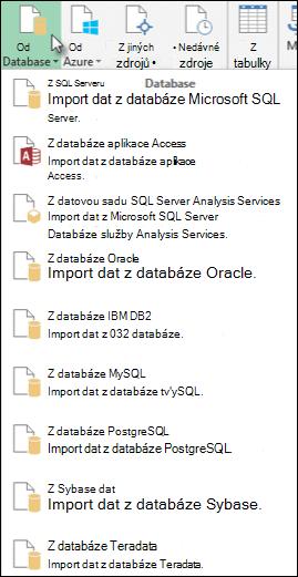 Načtení dat z databáze dialogového okna