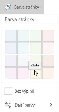 Nastavení barvy pozadí v aplikaci OneNote pro Windows 10