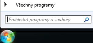 Snímek obrazovky prohledávání programů