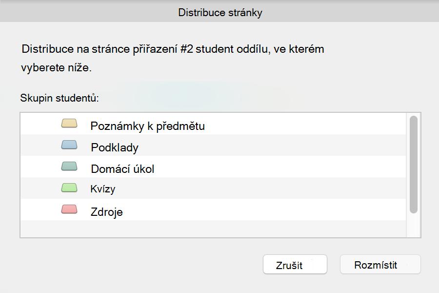 Distribuce dialogového okna stránek