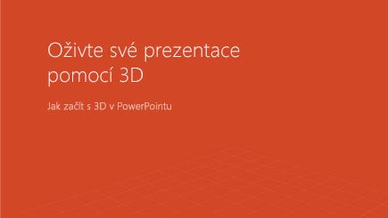 Snímek obrazovky s titulní stránkou 3D šablony pro PowerPoint