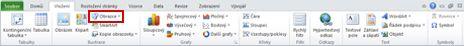 Karta Vložení se zvýrazněným tlačítkem Obrazce v aplikaci Excel 2010