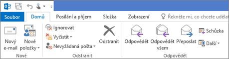 Pás karet v Outlooku 2013