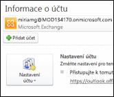 Přidání nového e-mailového účtu do Outlooku 2010
