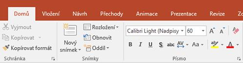 Zvýrazňovač textu na pásu karet v PowerPointu