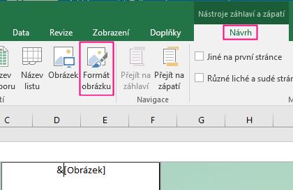 Formát pozadí v Excelu