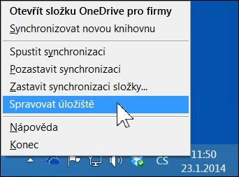 Správa úložiště OneDrive pro firmy