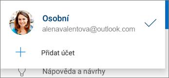 Přidání účtu v aplikaci OneDrive pro Android