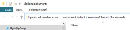 """V Průzkumníkovi souborů vyberte adresu """"http://"""", která je tady zobrazená."""