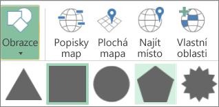 Možnost Obrazce 3D map