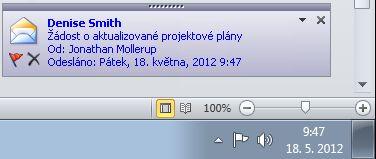 Upozornění na ploše aplikace Outlook