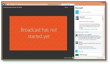 Stránka Připojit se k události SkypeCast