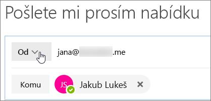 Zvolte tlačítko seznam aliasy, které můžete odpovědět jako.