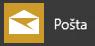Aplikace Pošta pro Windows 10, která se zobrazuje v nabídce Start ve Windows