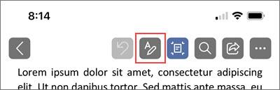Klepnutím na ikonu pera otevřete nastavení