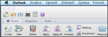 Pás karet v Outlooku for Mac 2011