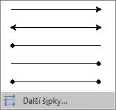 Na konci nabídky Šipky klikněte na Další šipky.