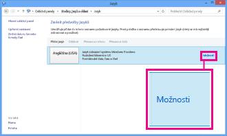 Přidání metody zadávání znaků v ovládacích panelech ve Windows 8