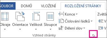 Tlačítko, které otevře okno Vzhled stránky