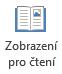 Zobrazení pro čtení je vhodné pro čtení PowerPointové prezentace na celé obrazovce, když není prezentující.
