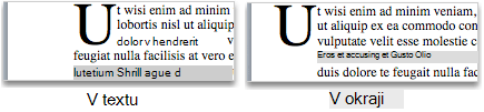 Dropped and in margin capital letters