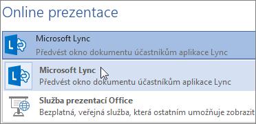Online prezentace s Microsoft Lyncem
